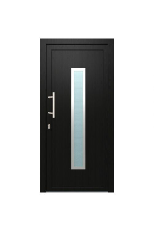 Vhodna vrata Solid Elements Piran (1000 x 2100 mm, PVC, leva, zunaj antracitna, znotraj bela)