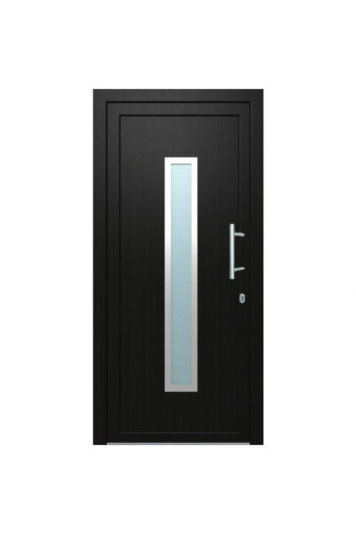 Vhodna vrata Solid Elements Piran (1000 x 2100 mm, PVC, desna, zunaj antracitna, znotraj bela)