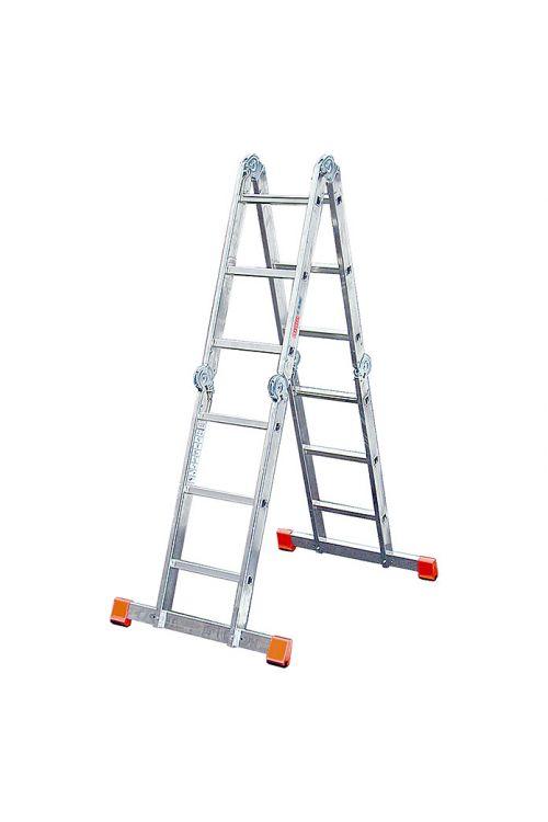 Zglobna lestev Stabilomat Safeline (delovna višina: 4,4 m, 4 x 3 stopnic, zložljiva)