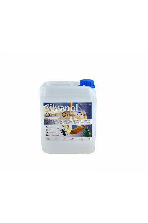 Zaščitni premaz za les Silvanol brez transparenten  (5 kg, ščiti pred delovanjem lesnih gliv, insektov in morskih škodljivcev, tudi za les, izpostavljen vremenskim vplivom)