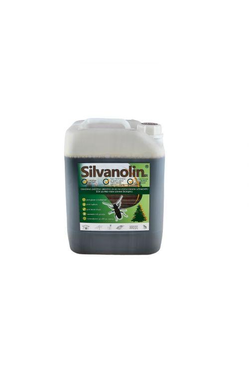 Zaščitni premaz za les Silvanolin rjav (10 kg, ščiti pred delovanjem lesnih gliv, insektov in morskih škodljivcev, tudi za les, izpostavljen vremenskim vplivom)