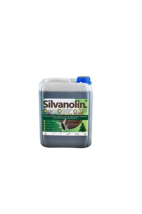 Zaščitni premaz za les Silvanolin rjav (5 kg, ščiti pred delovanjem lesnih gliv, insektov in morskih škodljivcev, tudi za les, izpostavljen vremenskim vplivom)_2
