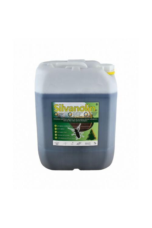 Zaščitni premaz za les Silvanolin zelen (20 kg, ščiti pred delovanjem lesnih gliv, insektov in morskih škodljivcev, tudi za les, izpostavljen vremenskim vplivom)