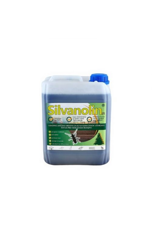 Zaščitni premaz za les Silvanolin zelen (5 kg, ščiti pred delovanjem lesnih gliv, insektov in morskih škodljivcev, tudi za les, izpostavljen vremenskim vplivom)