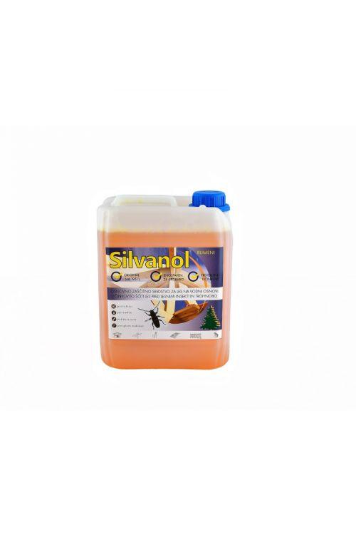 Zaščitni premaz za les Silvanol rumen (5 kg, ščiti pred delovanjem lesnih gliv, insektov in morskih škodljivcev, tudi za les, izpostavljen vremenskim vplivom)