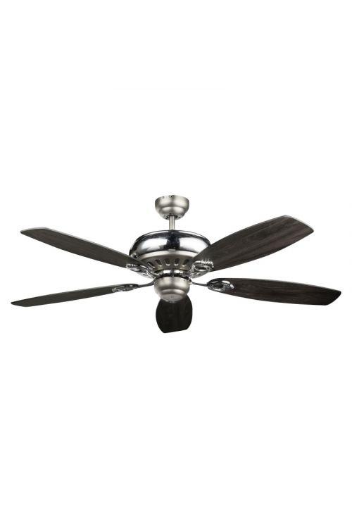 Stropni ventilator krom (60 W, Ø 132 cm, višina 39 cm, 5 kril)