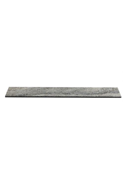 Robna ploščica Utah (7,5 x 61,5 cm, temno siva, glazirana)