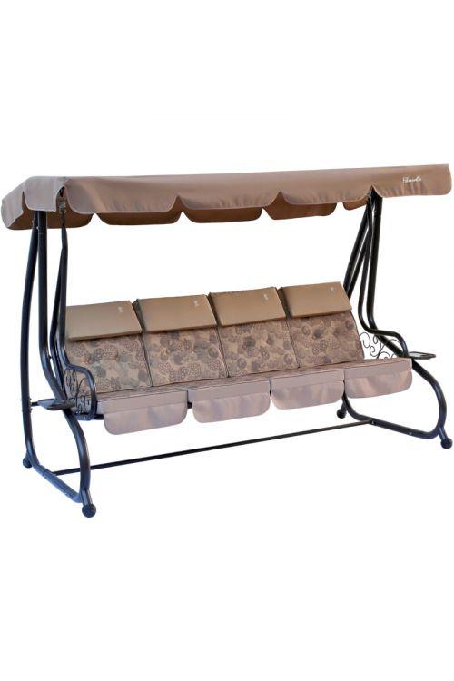 Gugalnica SUNFUN Hollywood Sorrento (d 230 x š 120 x v 164 cm, nosilnost do 240 kg, jekleno ogrodje, tekstilen, svetlo rjave barve)