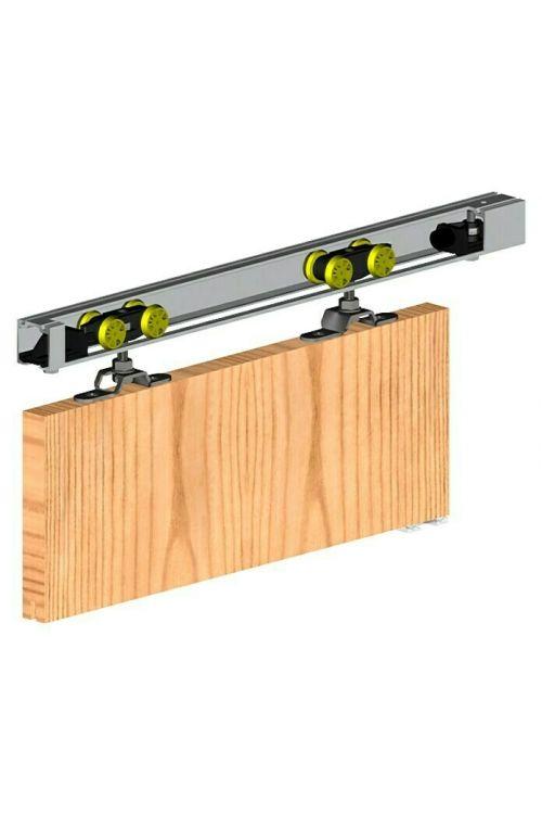 Vodilo za drsna vrata Valcomp by Mantion 60 (aluminij, 2,4 m, nosilnost 60 kg)