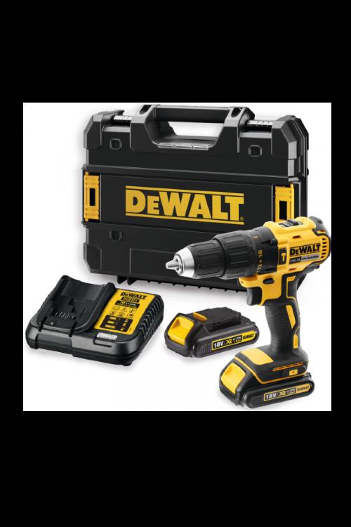 Akumulatorski udarni vrtalni vijačnik v kovčku DeWALT DCD778S2T (18V, 2 x Li-ion baterija 1.5 Ah, 0–1.750 vrt./min)
