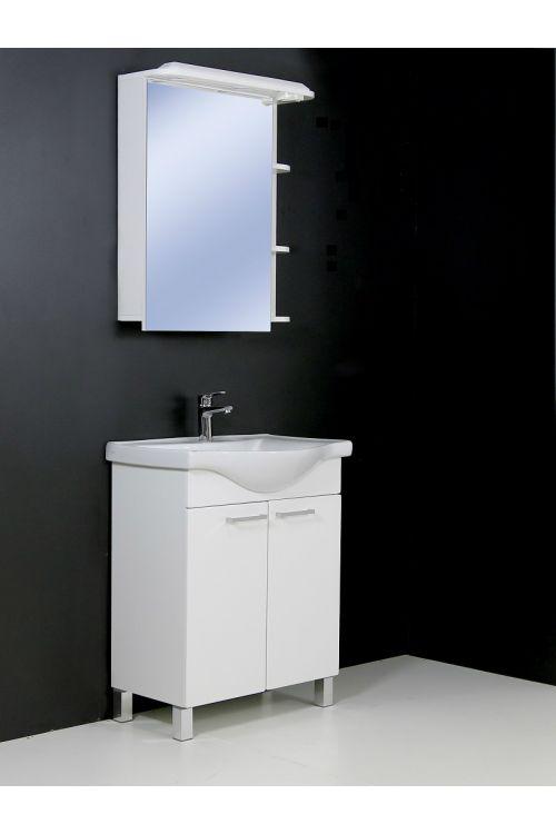 Kopalniški sestav Lea 65 (65 cm, bela, sijaj, LED)