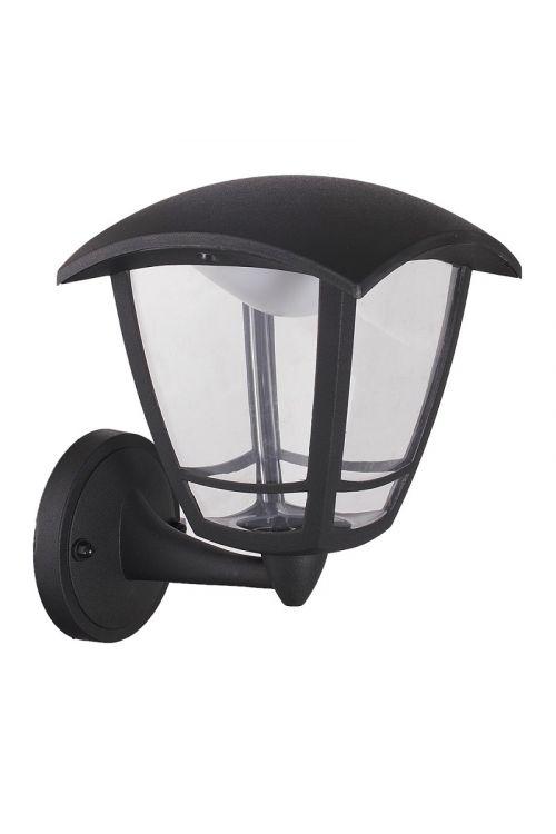 LED STENSKA LANTERNA  (8 W, 640 lm, 4.000 K, IP44, d 19,4 x š 16,2 x v 23,2 cm, črna)