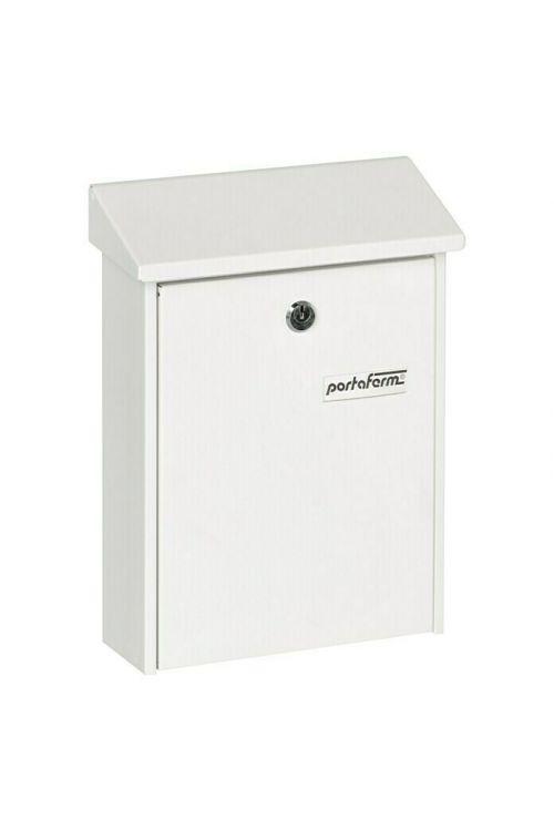 Poštni nabiralnik Portaferm PM 22 (7,5 x 22,5 x 30,5 cm, kovinski, bele barve)