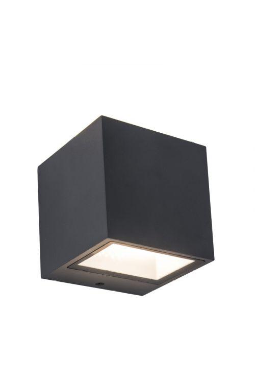 LED zunanja stenska svetilka Lutec Gemini (42 W, 30 x 10,8 x 12 cm, 3.300 lm, dnevno bela svetloba, siva)