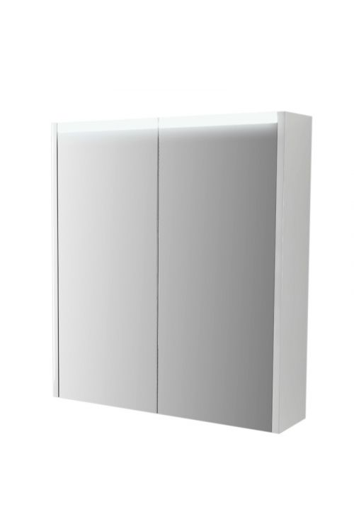 Omarica z ogledalom Paris (60 x 15 x 67 cm, bela, LED)
