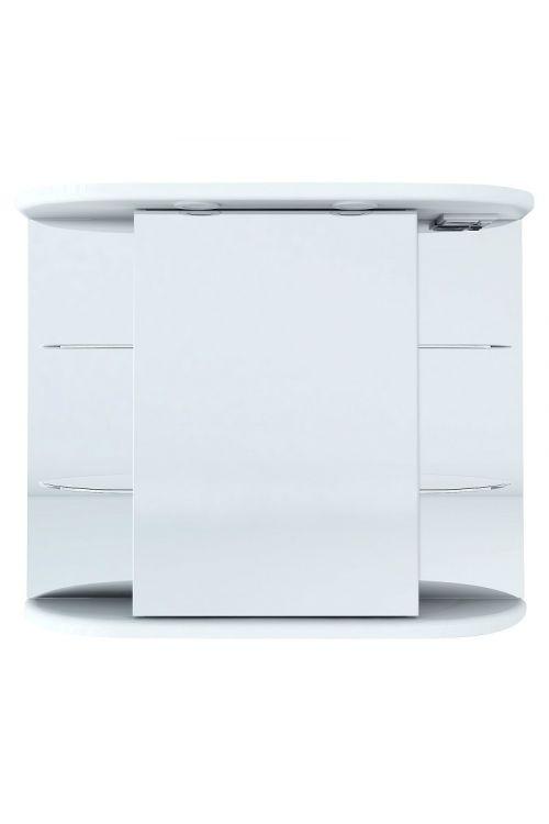 Omarica z ogledalom Alba (88 x 27 x 65,5 cm, bela, LED)