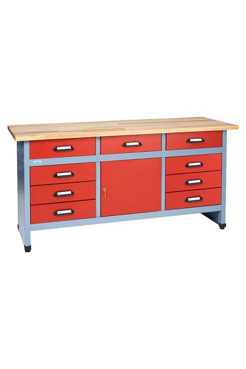 Delovna miza Küpper (60 x 170 x 84 cm, 9 predalov, nosilnost: 300 kg)