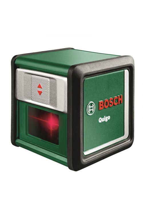 """Križni linijski laser BOSCH Quigo III (natančnost: ± 0,8 mm/m, premer delovnega območja: 10 m, navoj stojala: 1/4 """")"""