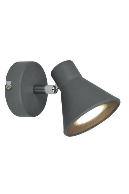 LED stenska svetilka Ferotehna Gray (3 W, 10,2 x 8,5 x 12,5 W, 225 lm, GU10, topla bela svetloba, siva)