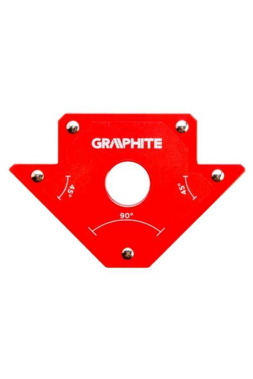Magnetni kotnik za varjenje (rdeč, 10.2 x 15.5 x 1.7 cm)