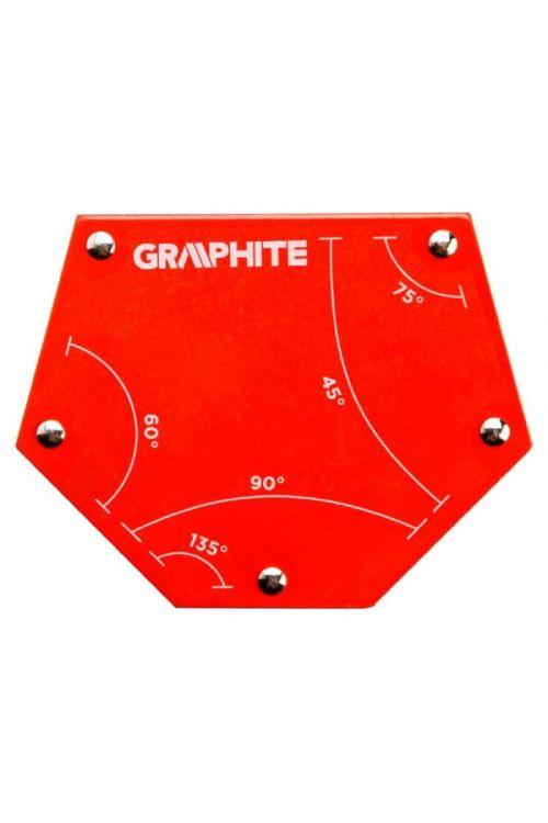 Magnetni kotnik za varjenje (rdeč, 11 x 13,5 x 2,4 cm)
