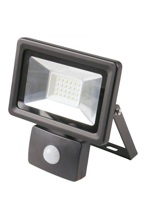 LED REFLEKTOR S SENZORJEM (20 W, 1.500 lm, 4.000 K, IP65, d 5,3 x š 13,8 x v 16 cm, črni)