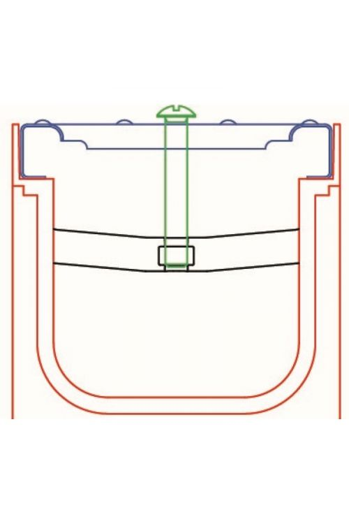 Pritrdilni element Wave (vruce cinkana rešetka)
