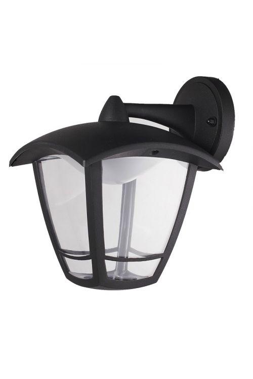 LED STENSKA LANTERNA DOWN (8 W, 640 lm, 4.000 K, IP44, d 19,4 x š 16,2 x v 23,2 cm, črna)