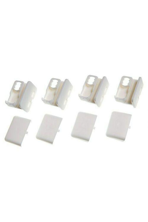 Pritrdilni elementi za plise (4 kosi, bele barve, lepljenje)