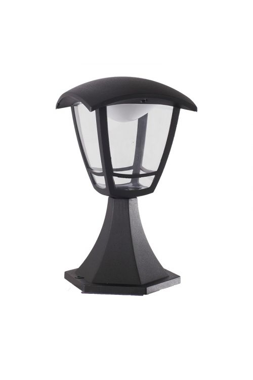 LED STOJEČA LANTERNA (8 W, 640 lm, 4.000 K, IP44, d 16,5 x š 16,5 x v 28 cm, črna)