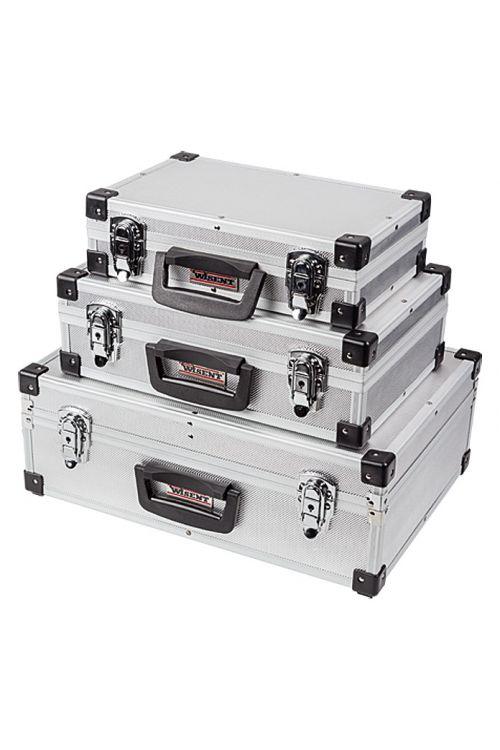 Komplet aluminijastih kovčkov za orodje Wisent 3 v 1 (3-delni, brez vsebine) (3-delni, brez vsebine)