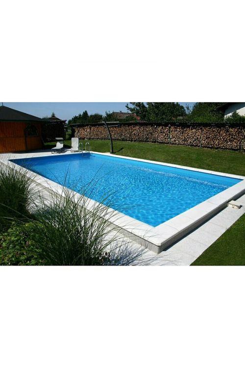 Montažni vgradni bazen California (750 x 400 x 150 cm, peščeni filter: 11.000 l/h, inox lestev, LED reflektor, skimer)