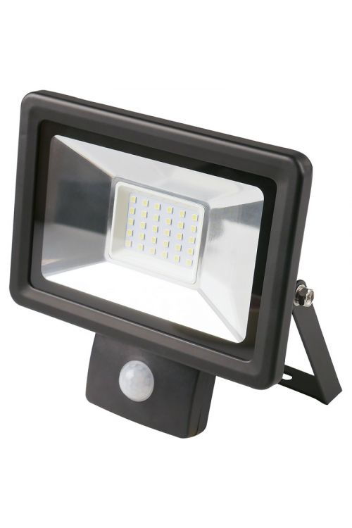 LED REFLEKTOR S SENZORJEM (30 W, 2.250 lm, 4.000 K, IP65, d 6,1 x š 18 x v 19,1 cm, črni)