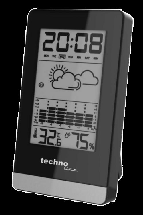 Digitalna vremenska postaja Technoline WS 9125 (črna, AAA, večnamenska)
