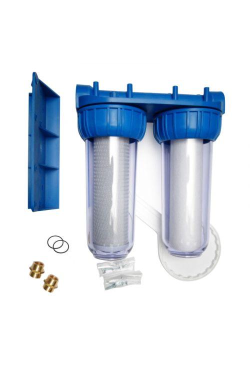 Dvo–stopenjski filtrirni sistem M DUO  (vhod/izhod 3/4'', višina 315 mm, eTec mehanski in BC čistilni vložek)