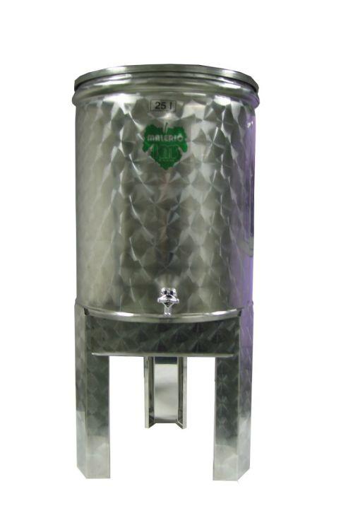 Sod za vino (nerjaveče jeklo inox, 25 l)