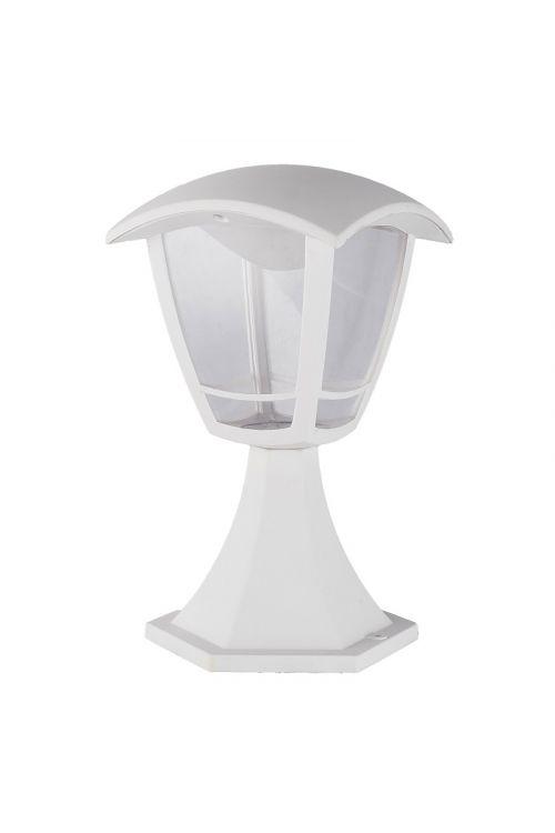 LED STOJEČA LANTERNA  (8 W, 640 lm, 4.000 K, IP44, d 16,5 x š 16,5 x v 28 cm, bela)