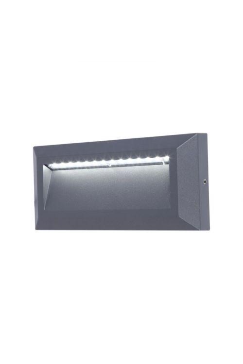 LED zunanja stenska svetilka Lutec Helena (10,5 W, 32 x 22,3 x 10,1 cm, 400 lm, dnevno bela barva, temno siva)