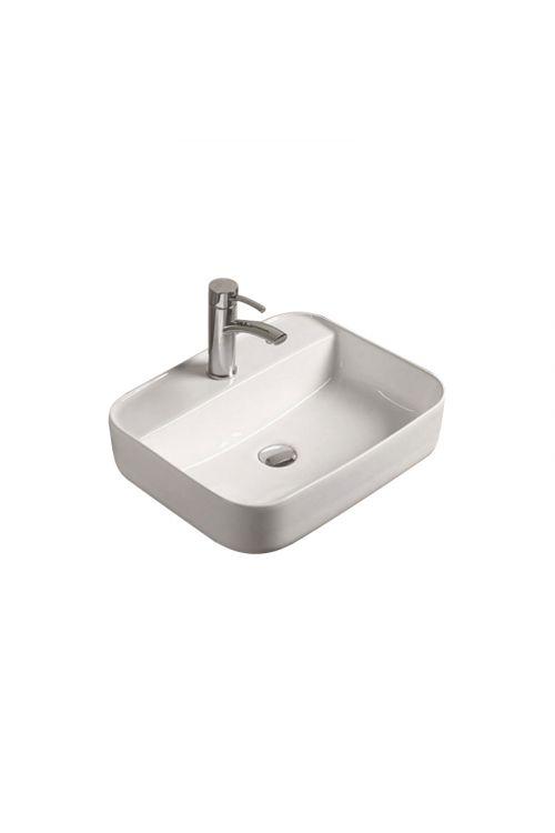 Nasadni umivalnik Krk (50,5 x 40,5 x 14 cm, keramični, bel)