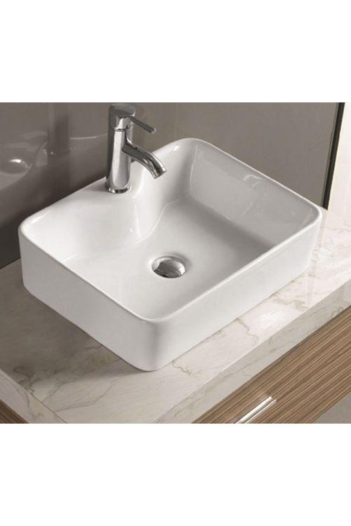 Nasadni umivalnik Brač (48 x 37 x 13 cm, keramični, bel)
