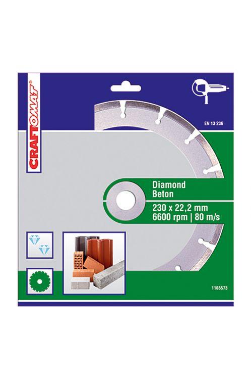 Diamantna rezalna plošča Craftomat (beton, premer plošče: 230 mm, sintrana)