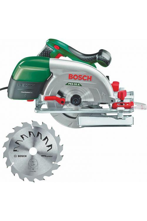 Ročna krožna žaga Bosch PKS 55 A (1.200 W, premer lista: 160 mm, 5.600 vrt./min)