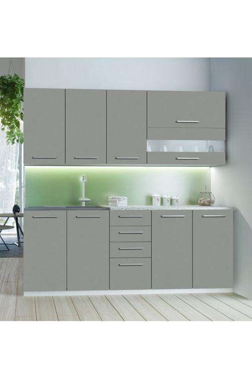 Kuhinja Como (200 cm, brez aparatov, siva)