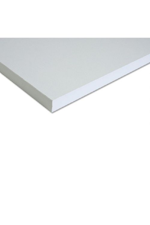 Polica (2600 x 600 x 18 mm, bela, iveral)