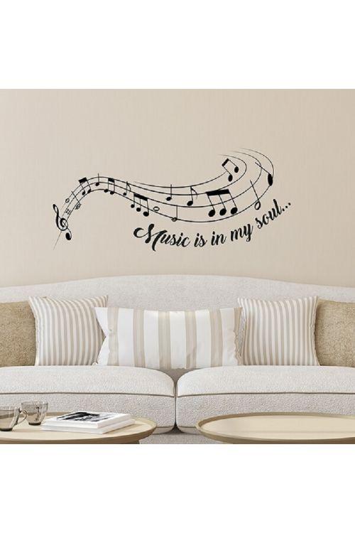 Okrasna nalepka Music is (67 x 47 cm)