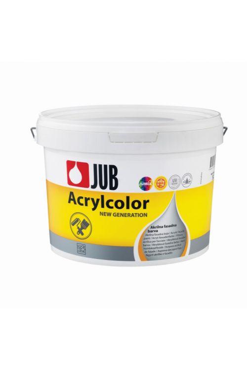 Bela fasadna barva JUB ACRYLCOLOR 1001  (5 l, za barvanje trdih in suhih finih ometov na fasadnih in notranjih stenskih površinah, vodoodbojna, dobro pokrivna, enostavna za nanašanje)