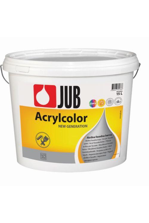 Bela fasadna barva JUB ACRYLCOLOR 1001  (15 l, za barvanje trdih in suhih finih ometov na fasadnih in notranjih stenskih površinah, vodoodbojna, dobro pokrivna, enostavna za nanašanje)