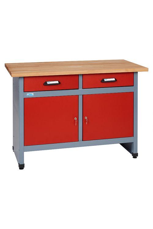 Delovna miza Küpper (60 x 120 x 84 cm, 2 predala, nosilnost: 300 kg)