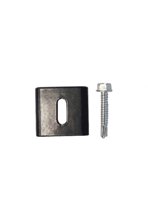 Objemka za steber    (50 x 50 mm, kov. antracit, 4/1)