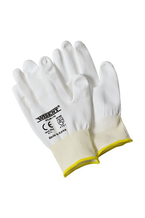 Delovne rokavice Wisent (velikost: 10, bele, 5 parov)